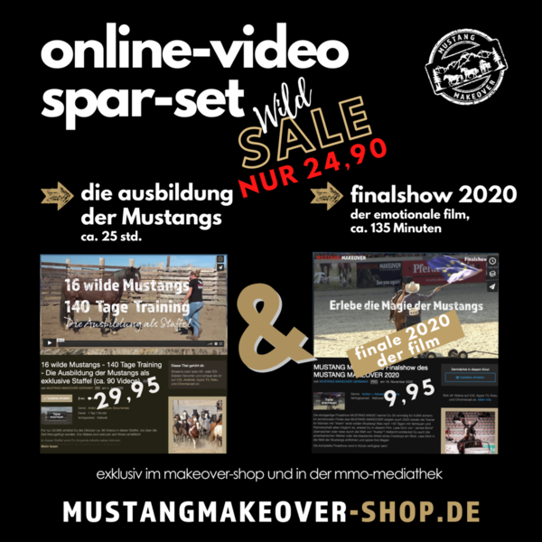 SPAR-SET: Exklusives MUSTANG MAKEOVER Online-Video-Package SAVE